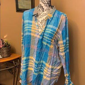 Tops - Multicolored flannel top